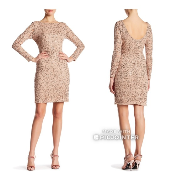Taupe Sequin Dress
